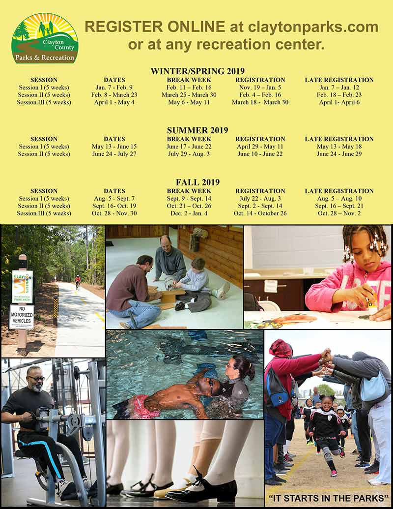Register for Upcoming Classes – Clayton County Parks