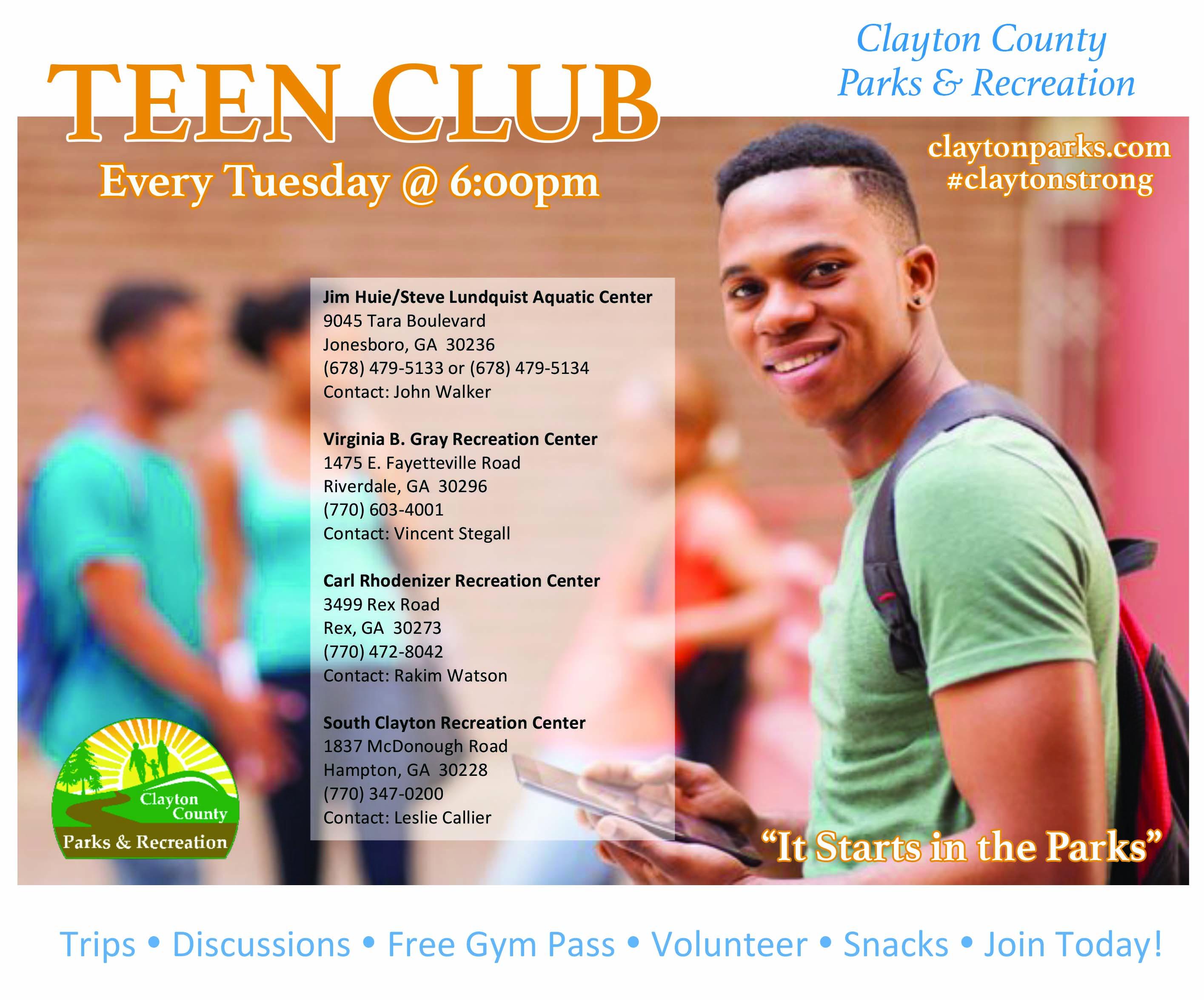 Teen Club – Clayton County Parks