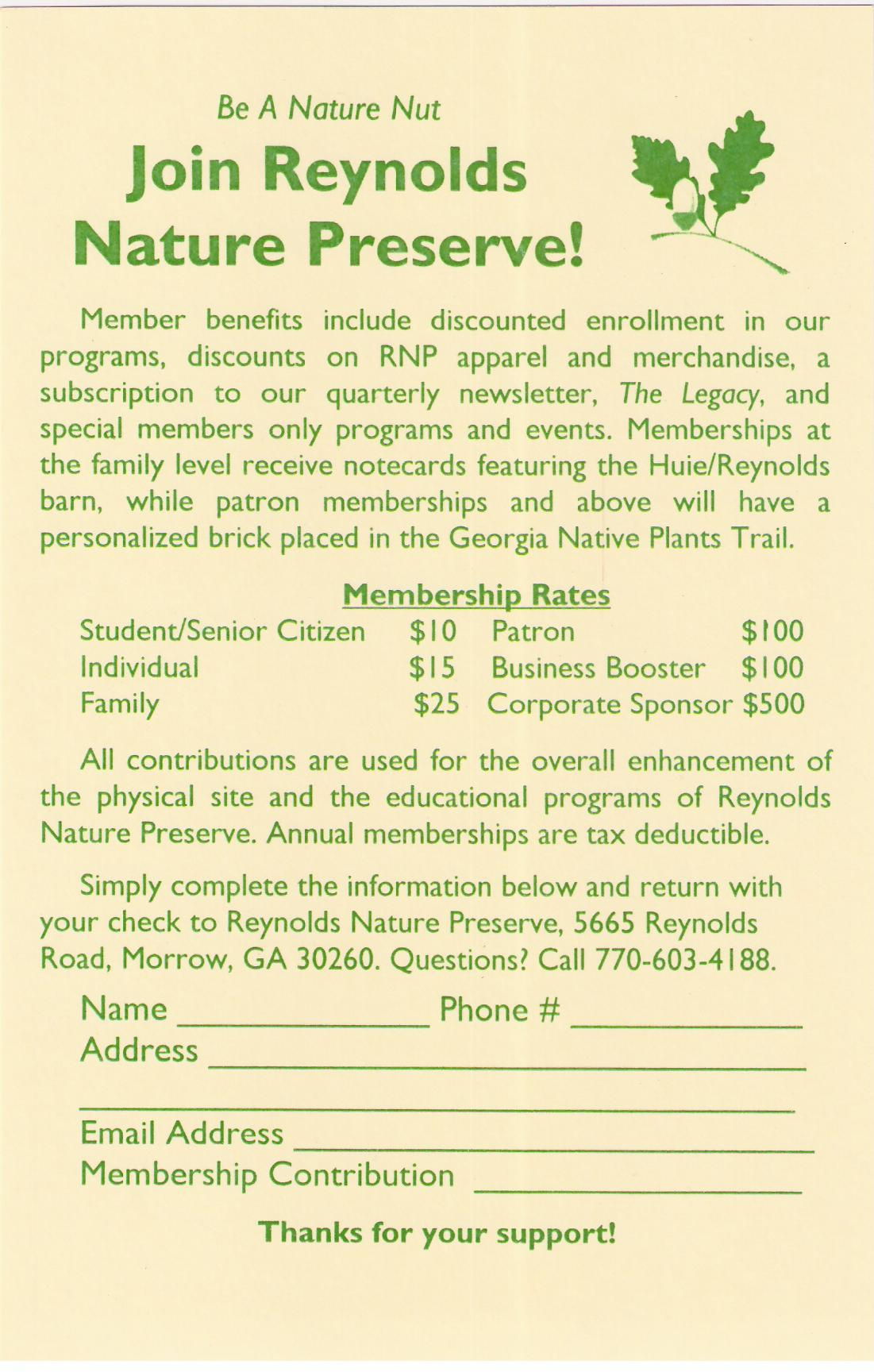 RNP Store – Clayton County Parks