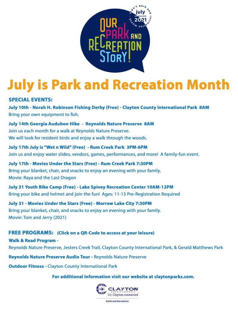 July is Park & Recreation Month